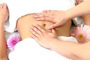 Massaggio addome, hara